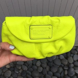 Marc by Marc Jacobs neon yellow crossbody clutch